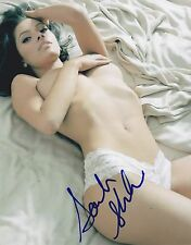 HOT SEXY SARAH SHAHI SIGNED 8X10 PHOTO AUTHENTIC AUTOGRAPH FAIRLY LEGAL COA A