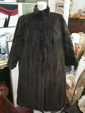 Vintage Genuine Real Mink Fur Long Ladies Coat Thick Winter Jacket