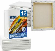 """Pre Stretched White Blank Painting Canvas Panels,5/8"""" Profile,Primed,100% Cotton"""