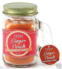 Desire Candle Jar Ginger Peach Mini.Beautiful Fragrance Candle In A jar  gift
