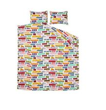 Supreme HYSTERIC GLAMOUR Text Duvet + Pillow Set White IN HAND