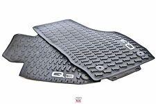 Audi Q3 Front All weather floor mats rubber pair OEM 8U1061221A041