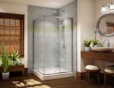 "FLEURCO 36"" x 36"" SIGNATURE CAPRI SQUARE 3/16"" GLASS CORNER SLIDING SHOWER DOOR"