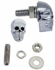 Schrauben Kennzeichen Totenkopf Metall Chrom black für Harley Softail 25mm