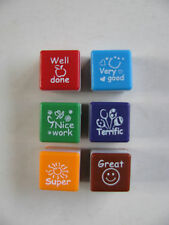6 Teacher Stamps Self Inking Set Collection Reward Charts Nursery School Kids