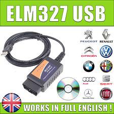 ELM327 OBDII OBD2 CAN-BUS USB Auto Lettore di codici di diagnostica Scanner Strumento V1.5