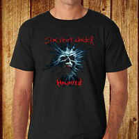 New Six Feet Under Haunted Logo Men's Black T-Shirt Size S-3XL