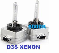 Coppia lampade bulbi universali XENON ricambio D3S ,6000K.Bianco Xeno auto d3 s