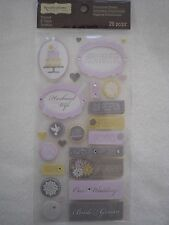Recollections 26 pc Dimensional Stickers - WEDDING
