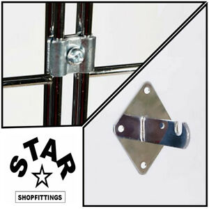 GRIDWALL MESH RETAIL SHOP DISPLAY PANEL GRID CLIPS And Bracket Accessories