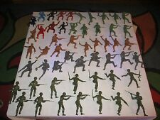 """MIXED Lot of 52 Vintage 1960 Large Big Marx Toys Military Soldiers 4"""" - 6"""""""
