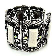 Markenlose Modeschmuck-Armbänder aus Metall-Legierung Strasssteine