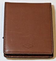 Fossil Knox Bifold FP ID Dark Brown ML3767B201 Men's wallet billfold NEW **marks