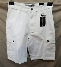 Enyce Casual Cargo Shorts NWT White Relaxed Fit 32