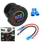 Car Motorcycle Digital Gauge Volt Meter Voltage Led Panel Voltmeter Display 12v
