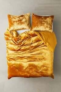 Ultra Luxury Crushed Gold Velvet Duvet Cover Bohemian Bedding Stylish Comforter