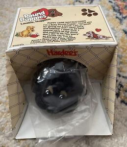 Vintage 1986 Pound Puppies Baby Black Dog MISBaggie NIP Hardee's