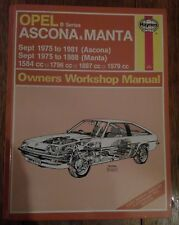Opel Manta and Ascona Haynes Manual - 1975 to 1988