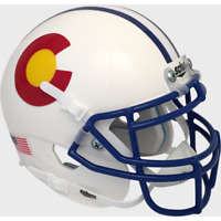 COLORADO STATE RAMS (White Alternate) Schutt XP Mini Helmet