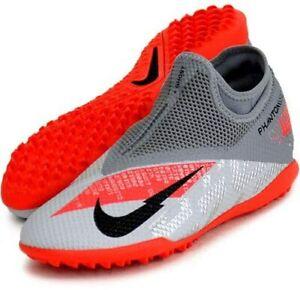 Nike Phantom Astroturf Boots VSN 2 Academy DF TF MTLC Bomber Grey/Black UK 10