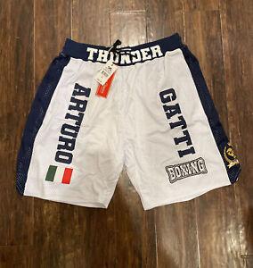 Arturo Gatti Thunder Boxing Headgear Classics Shorts Size Large NEW W TAGS!