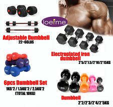 New listing 4.4~66LBS Weightlifting Dumbbells Set Yoga Home Fitness Gym Bodybuilng Training