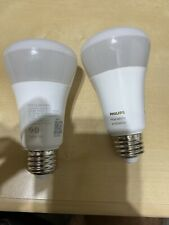 Philips Hue 2-Pack A19 White Led Smart Bulb, Bluetooth & Zigbee compatible Alexa