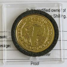 PHILIP AND MARY 1551 SHILLING HALLMARKED SILVER PROOF FROM THE LMO - error