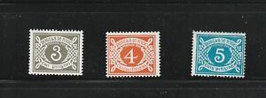 Ireland Postage Due Labels 1978 No wmk 3d 4d 5d MNH