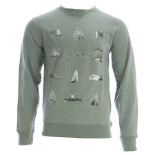 f72812b002b2 Saturdays NYC Men s Grey Heather Bowery Buildings Sweatshirt Medium