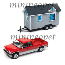 JOHNNY LIGHTNING JLTH001 B TINY HOUSES 2002 CHEVY SILVERADO PICK UP 1/64 RED