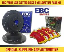 EBC FRONT USR DISCS YELLOWSTUFF PADS 320mm FOR VOLVO V40 2.0 180 BHP 2013-