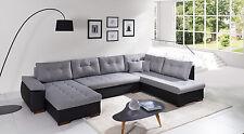 Sofa Couchgarnitur Couch Sofagarnitur U Wohnlandschaft Schlaffunktion RAVENNA