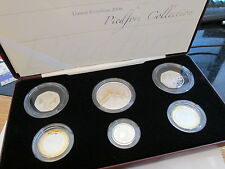 UK 2006 SILVER PROOF PIEDFORT 6 COIN COLLECTION - boxed/coa Lovely SET Cc1
