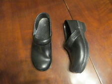 Dansko 10 1/2 black Leather Slip On Mary Jane  Heels Women's EUR 41