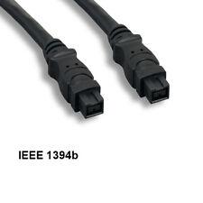 Kentek 10FT 9 to 9Pin IEEE1394b Firewire iLINK DV Cable 800Mbps Bilingual PC MAC