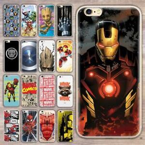 Handyhülle Marvel Silikon Schutz Cover Case Bumper Etui Slim Tasche Avengers