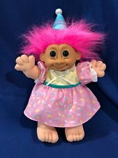 "SALE~ WOW! LARGE VTG Retired Happy Birthday Russ Soft Troll Doll # 2317 - 14"""
