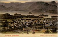 Keswick England Cumbria ~1910 Derwentwater Nationalpark Lake District Panorama