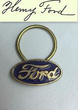 Vintage Ford Car  keyring Original Henry Ford keyfob Scarce early 1950s