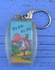 Porte-clé des années 60, Blan Blan, pâte molle moussée avec ourson