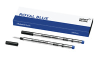 MONTBLANC Royal Blue Medium ROLLERBALL, Pack w/ 2 Refills - BRAND NEW