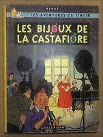 TINTIN les Bijoux de la Castafiore Plat B34  EO belge 1963