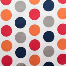 RILEY BLAKE DESIGNS LARGE POLKS DOTS ON WHITE COTTON FABRIC BTY