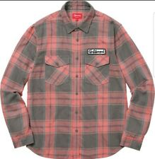 31ae929dc Guaranteed 3 day delivery · SUPREME F W   17 GOD BLESS YOU Plaid Flannel  Pink   Grey size