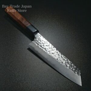 Japanese Kato Yoshimi SG2 R2 Hammered Bunka Knife 170mm Honduras Rosewood