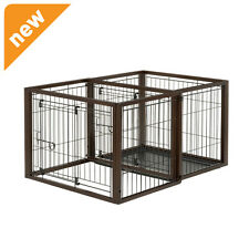 Richell Flip To Play Pet Crate Small Dark Brown 94924 PET CRATE NEW