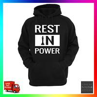 Rest In Power Hoodie Hoody Hoodie Black Rights Equality Activist Charity Donate