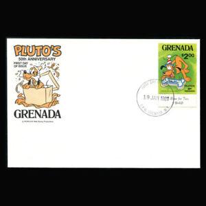 Grenada, FDC, 1981, Disney, Pluto's 50th anniversary, G197-10-B