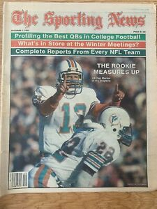 "The Sporting News--December 5, 1983 ""The Rookie Measures Up Dan Marino"""
